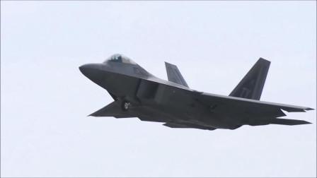 """实拍美军战斗机起飞 F-22""""猛禽""""旱地拔葱"""