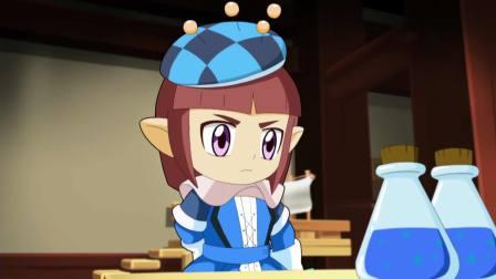 洛克王国:魔法学院的同学上课,今天学制作新魔法,费得又来捣乱