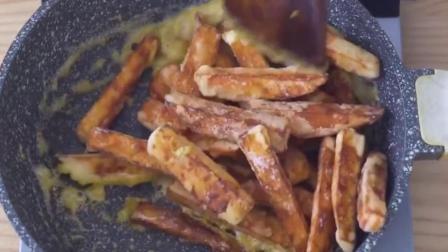 创意美食:红薯还在蒸着吃?自制家庭版黄金地瓜条