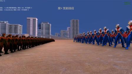 史诗战争模拟器:高斯奥特曼VS超胆侠,谁会取胜?