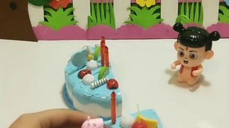 有趣幼教玩具:哪吒过生日吃蛋糕