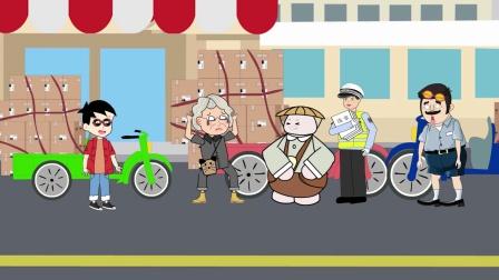 奶奶故意超载,面对警察叔叔十分豪横,结局赔了夫人又折兵!
