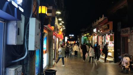 看中心城区晚上街景