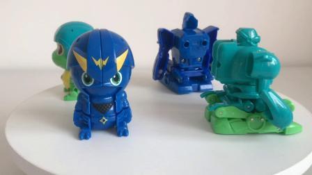 武装精灵玩具玄武战神PK雷影战神