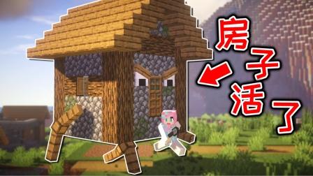 我的世界:村庄房子其实是怪物,钻石套装都打不过它!
