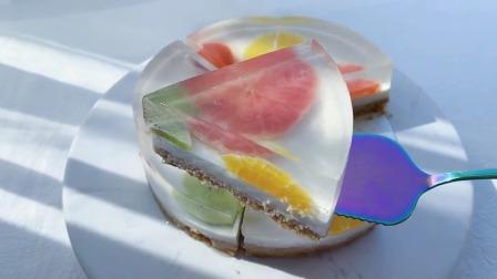 三步搞定的水果果冻蛋糕