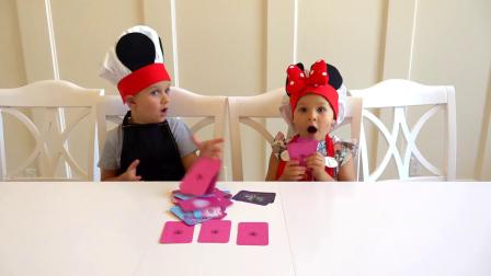 爸爸过生日戴安娜和罗马给爸爸准备草莓水果蛋糕全程直播