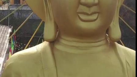 陕西省陕南最大的一尊大佛,汉中市佛坪县佛光寺