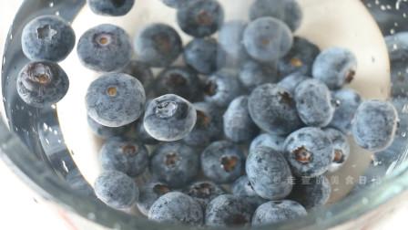 蓝莓渐变芝士慕斯,碳水和肉,肉必不可少,自己做出秋天味