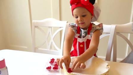 国外儿童时尚:男孩自己做生日蛋糕,看起来好美味