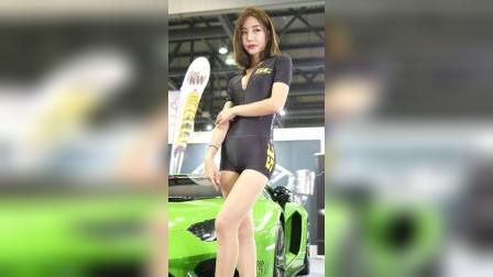饭拍车展,汽车沙龙赛车模特 李继安