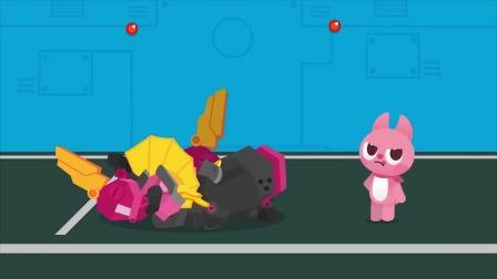 路西把房间里的零件组装成什么机器人?迷你特工队游戏