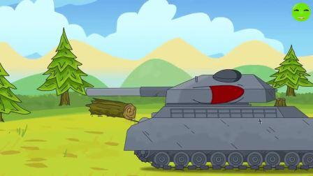 坦克动画:КВ-44坦克不愿意成为毒液坦克