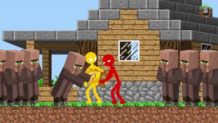 我的世界动画-火柴人学院-幸运方块-Stickman
