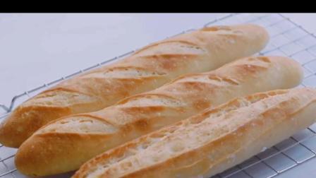 低糖少油法棍面包做法,不用揉面非常简单,一看就会,快点学起来吧!