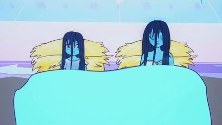 剪纸动画:卖火柴的贞子点燃蜡烛,引来精灵,帮助她实现愿望!