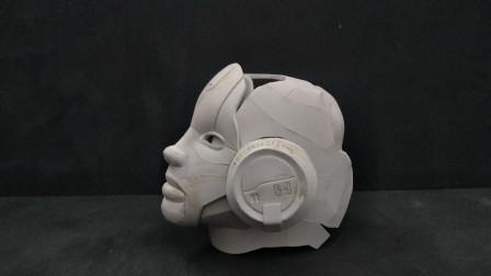 风之伊:做个星际争霸的人族副官模型,头部初步成型
