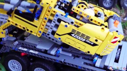 成长益智玩具,乐高组合拼装挖掘机过程!