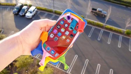 气球能保护手机吗?小伙从100米高楼丢下测试,结果大跌眼镜