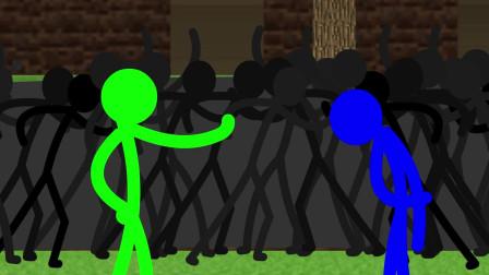我的世界动画-火柴人学院-格斗挑战-Sticktoon