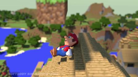 我的世界动画-果冻马里奥-Softbody Simulation Dude