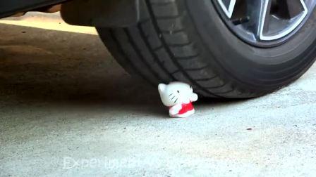 减压实验:汽车vs各种玩具 外国牛人碾压各种东西听声音解压