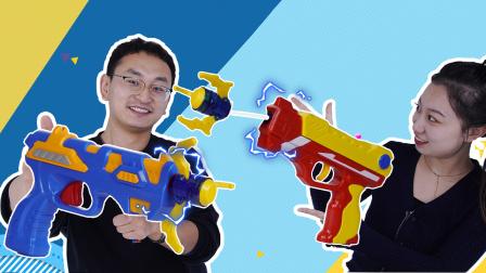 爆射抓捕枪大对战 小志和橘子挑战多种玩法乐趣无穷