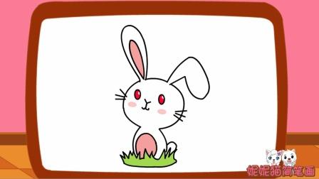 如何画可爱的小白兔儿童卡通简笔画