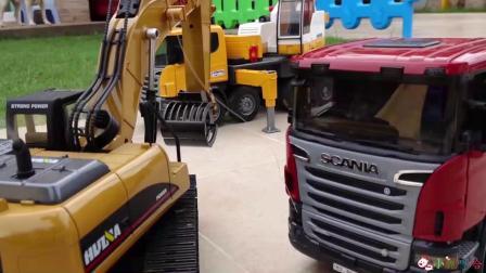 成长益智玩具,挖掘机和工程车召集开会!