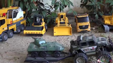 成长益智玩具,碾压机和坦克合作修建家园!