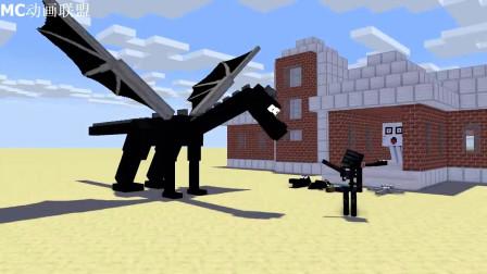 我的世界动画-怪物学院-训练末影龙-BabYzzz