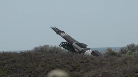 保加利亚萨姆-3与萨姆-6防空发射训练,飞行轨迹飘忽
