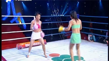 美少女之战!KO女皇龚艳丽铁拳对拼中国姑娘,重拳出击顶着打
