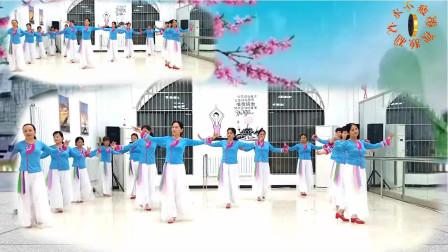 团队版广场舞《家在御江南》制作:永不疲倦