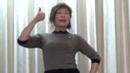 洋雪梅广场舞《山河美》简单大方,好学好看。