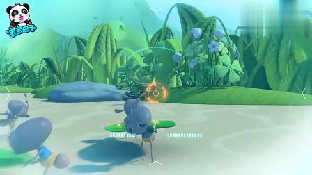 宝宝巴士奇妙救援队:领头蚁被困在泥潭里,奇奇想办法救它上来