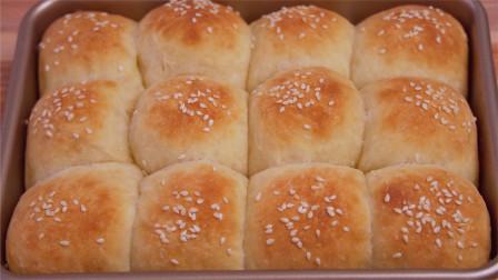 家里有面粉的,一定要试试这款懒人版免揉牛奶小面包,太好吃了