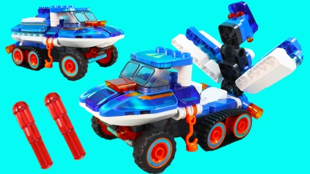 百变布鲁可 鲁鲁冰蓝战锤早教积木玩具