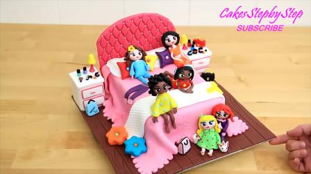 太可爱了!用七彩翻糖设计成美少女生日蛋糕房间,你想来试一试吗