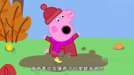 小猪佩奇:佩奇在泥坑里跳来跳去