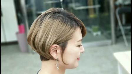 减龄短发的修剪,详解分析教程,供美发师参考