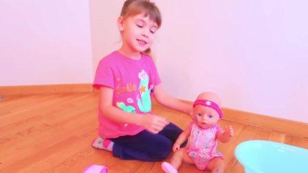 国外少儿时尚,萌宝在家玩颜料玩具,真开心啊