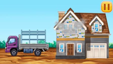 汽车游戏:汽车运材料去别墅按装门窗