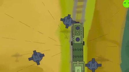 坦克世界动画:隐藏在云里的小飞机 实则杀伤力十足