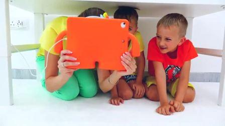 儿童亲子互动,小帅哥和妈妈讲了,一个神奇的儿童房的故事