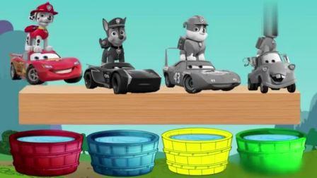亲子益智动画:汪汪队狗狗们的工具车,认识颜色?