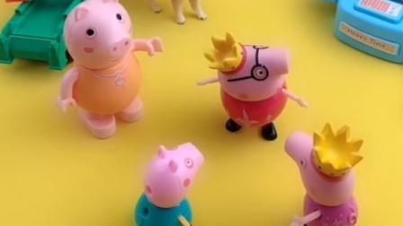 猪爸爸唱嗨了,不下心甩到脖子了,这下不嗨了吧