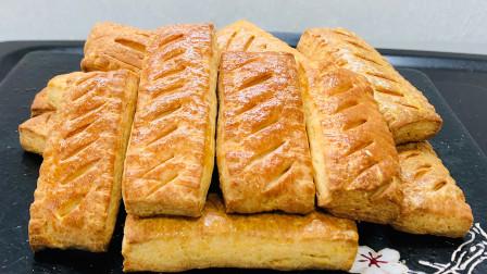 教你做酥脆饼干,一碗面粉和两个鸡蛋轻松搞定,步骤简单,嘎嘣脆