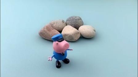 路上有一堆大石头,乔治怎么还躺上去了