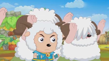 喜羊羊与灰太狼:大力居然被灰太狼抓了,这可真丢脸,赶紧反抗啊